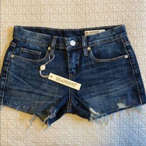NWT Blank NYC Raw Denim Hiker Shorts Size 24